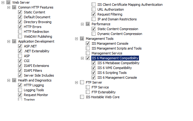 add-windowsfeature iis 6 management console