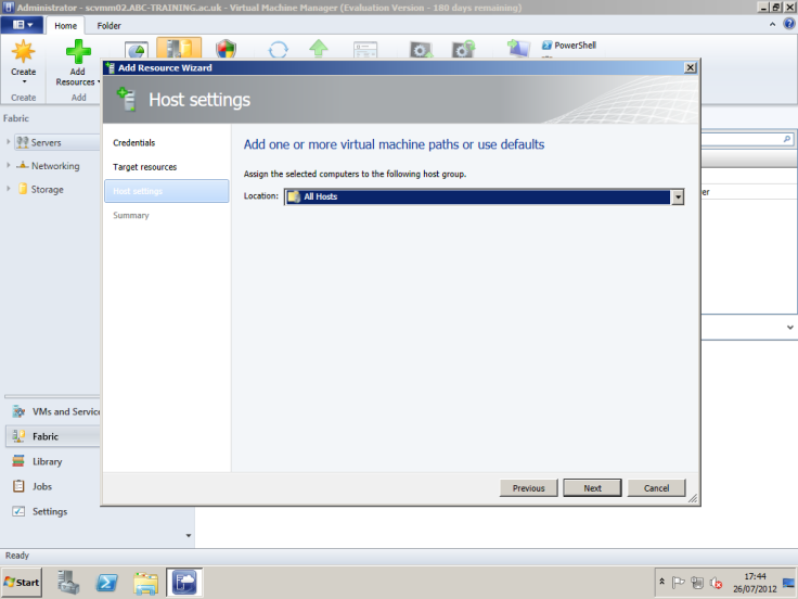 Deploying System Center 2012 Virtual Machine Manager – Ryan