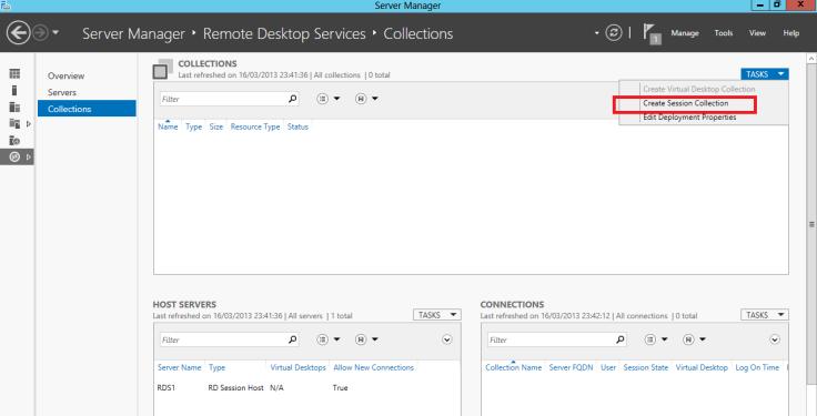 Create a desktop Session Collection1