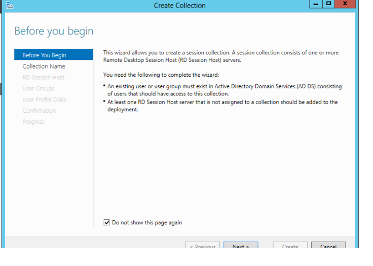 Create a desktop Session Collection2