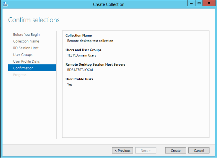 Create a desktop Session Collection7