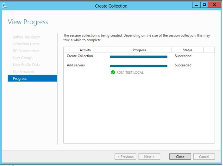 Create a desktop Session Collection9