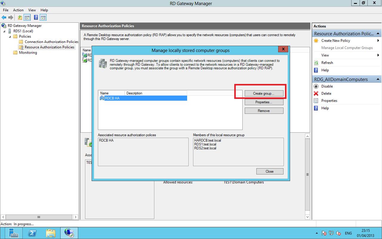 Create a RDSH FARM RDS 2012 using DNS Round Robin – Ryan