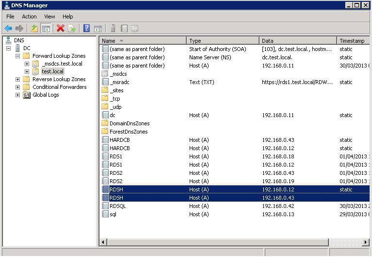 Create a RDSH FARM RDS 2012 using DNS Round Robin – Ryan Mangan's IT