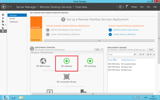 Deploying Remote Desktop Gateway RDS 2012
