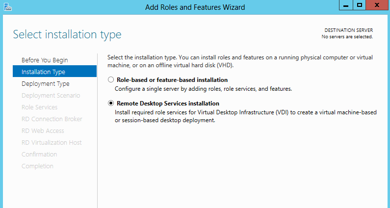 installing RDS 1