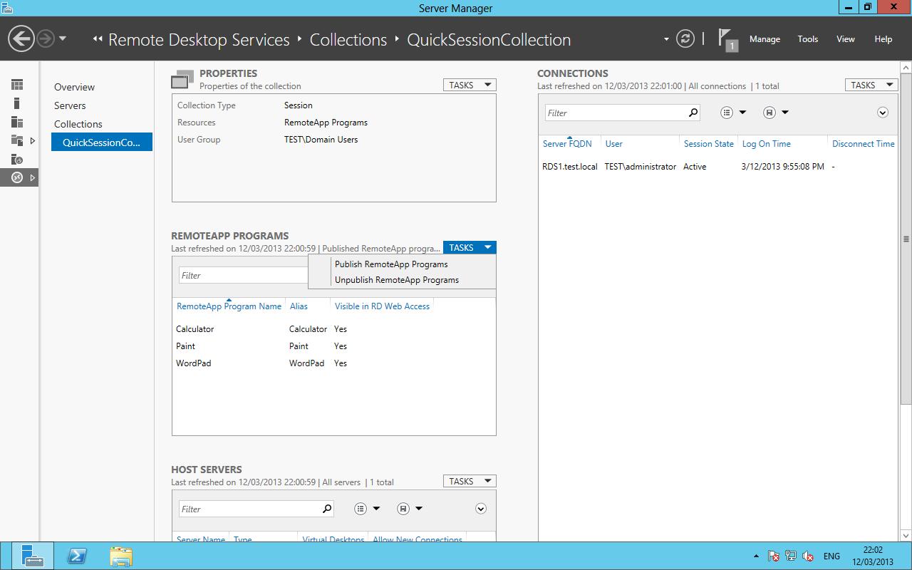 Deploying RDS 2012 Single Server – Session Based deployment