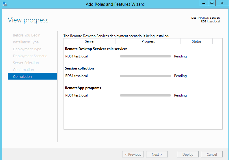 installing RDS 6