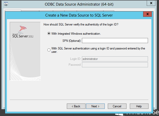 how to create odbc connection for sql server