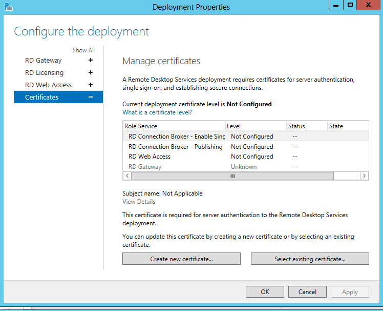 configuring rds 2012 certificates and sso ryan mangan s it blog
