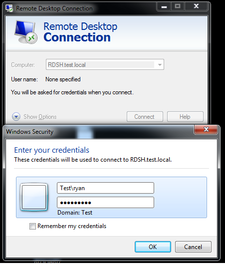 RDSH Connection