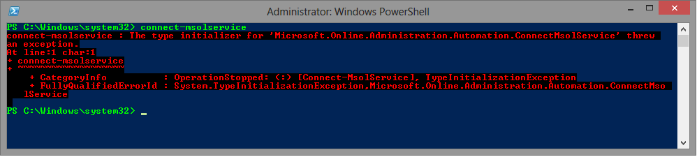 Canu0027t Connect To Office 365 By Using Powershell