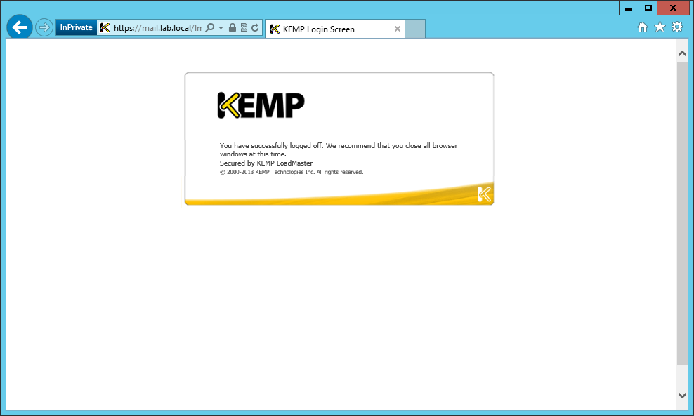 Hints and Tips for configuring KEMP ESP on MS Exchange 2010