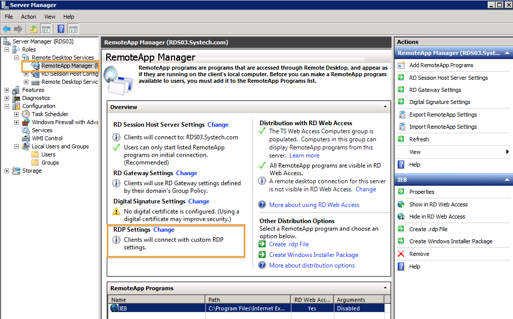 how to change rdp port server 2008 r2