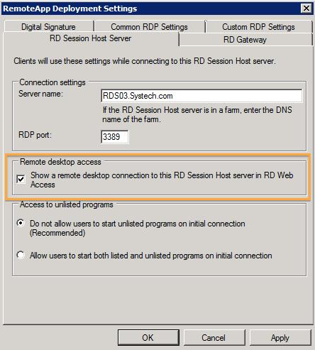 Publish RDS 2008R2 Desktop on RDS 2012 – Ryan Mangan's IT Blog