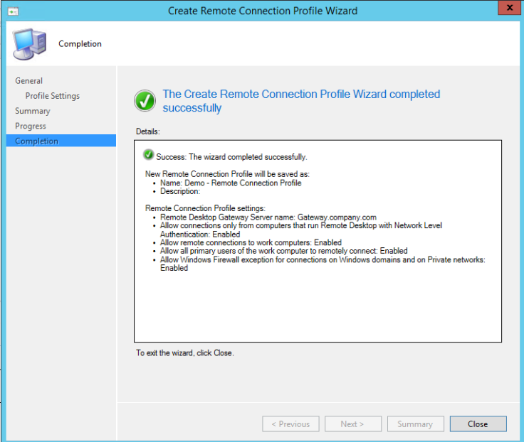 Create remote Connection Profile4