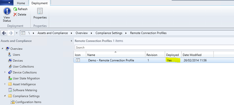 Create remote Connection Profile7