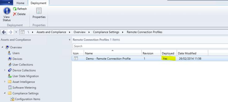 Create remote Connection Profile7