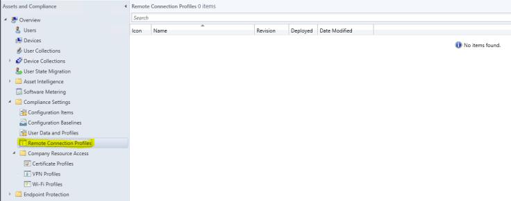 Remote Conneciton Profile View