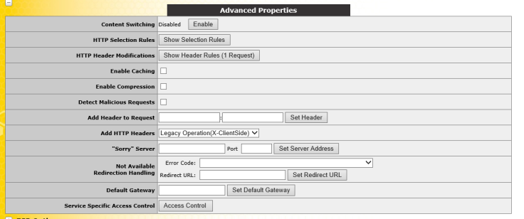 Advance Settings API