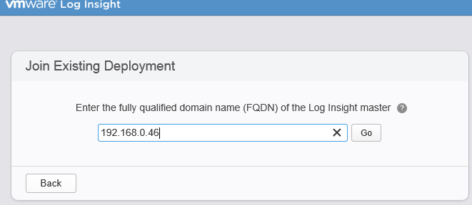 Join existing deployment