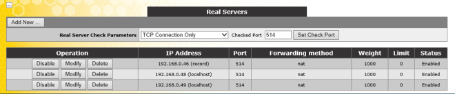 SSL Real Servers