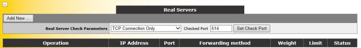 SSL Virtual Service real server