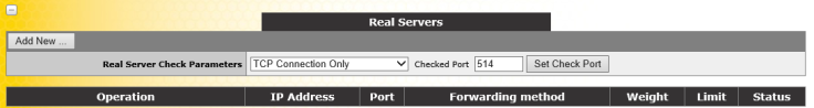 SSL Virtual Service real server
