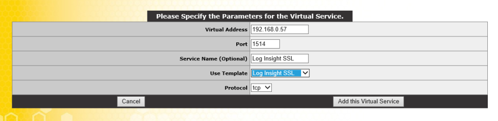 SSL Virtual Service