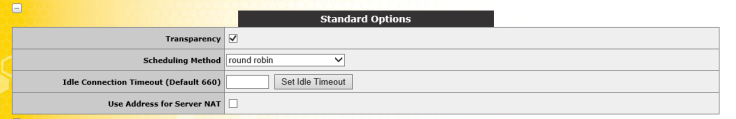Standard Options TCP