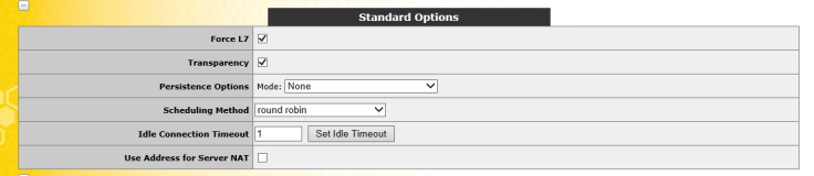 UDP Standard Options