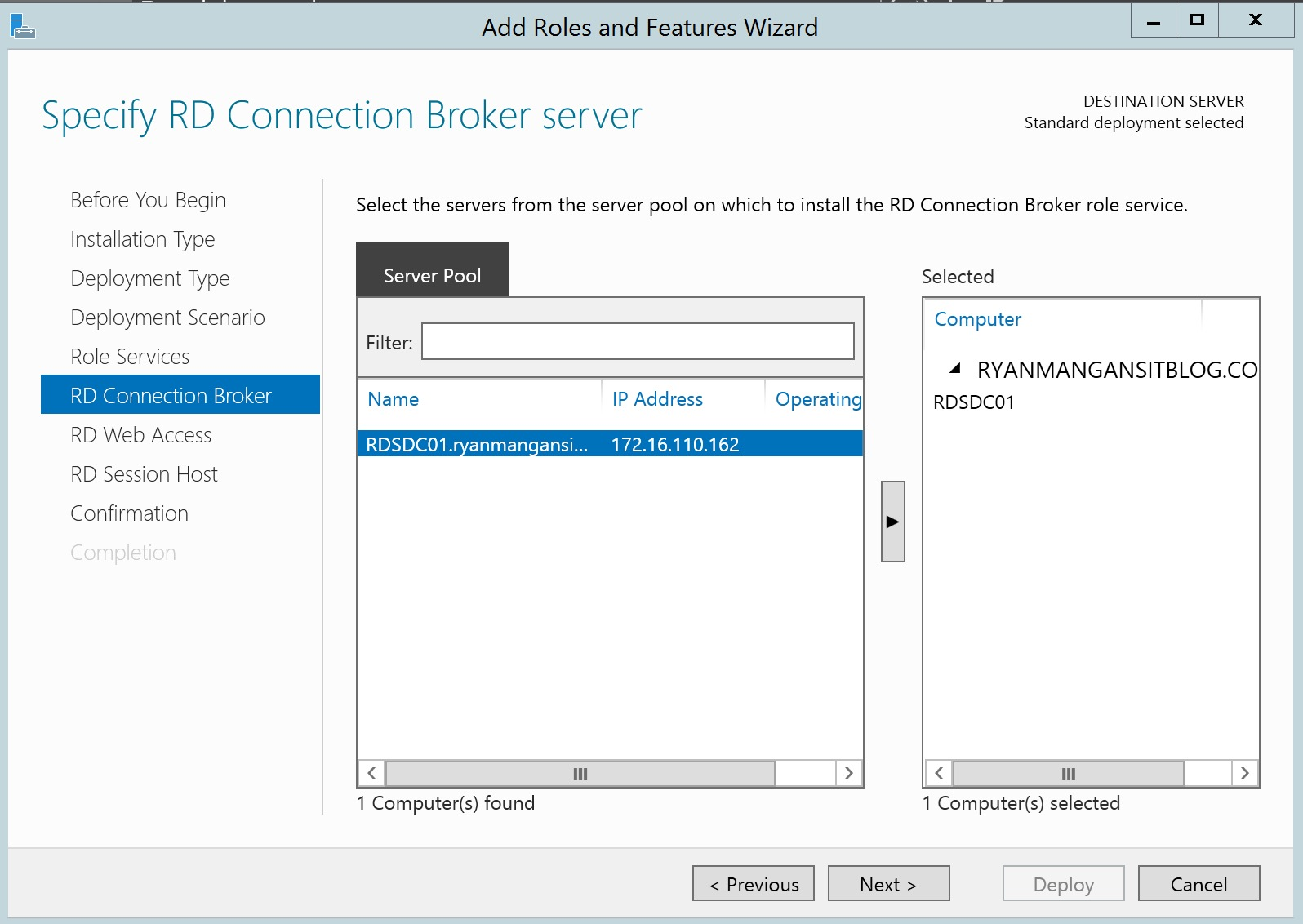 Deploying RDS 2012 R2 On a Domain Controller – the Walk